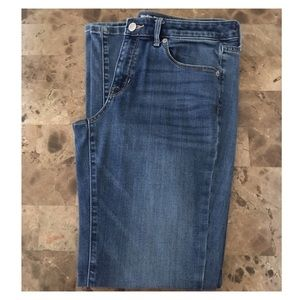 Mossimo Mid Rise Straight Leg Blue Jeans Size 10R